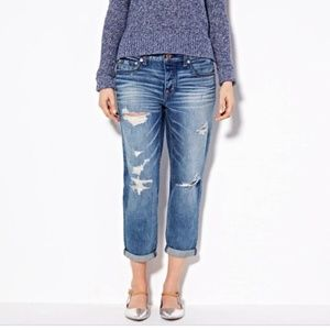 American Eagle Distressed Boy Crop High Rise Jeans